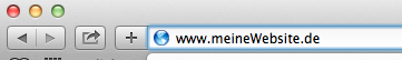 Die Adresszeile im Safari-Browser