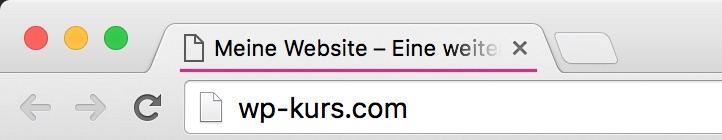 Anzeige des WordPress-Titels im Browser-Tab