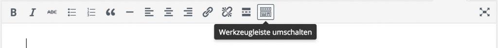 Button zum Umschalten der Werkzeugleiste in WordPress